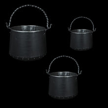 Load image into Gallery viewer, Hand-Forged Iron Cauldrons in 3 Sizes