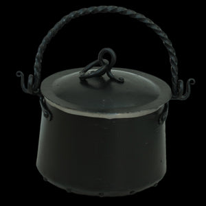 Hand-Forged Iron Cauldron - 5 Litre with Lid