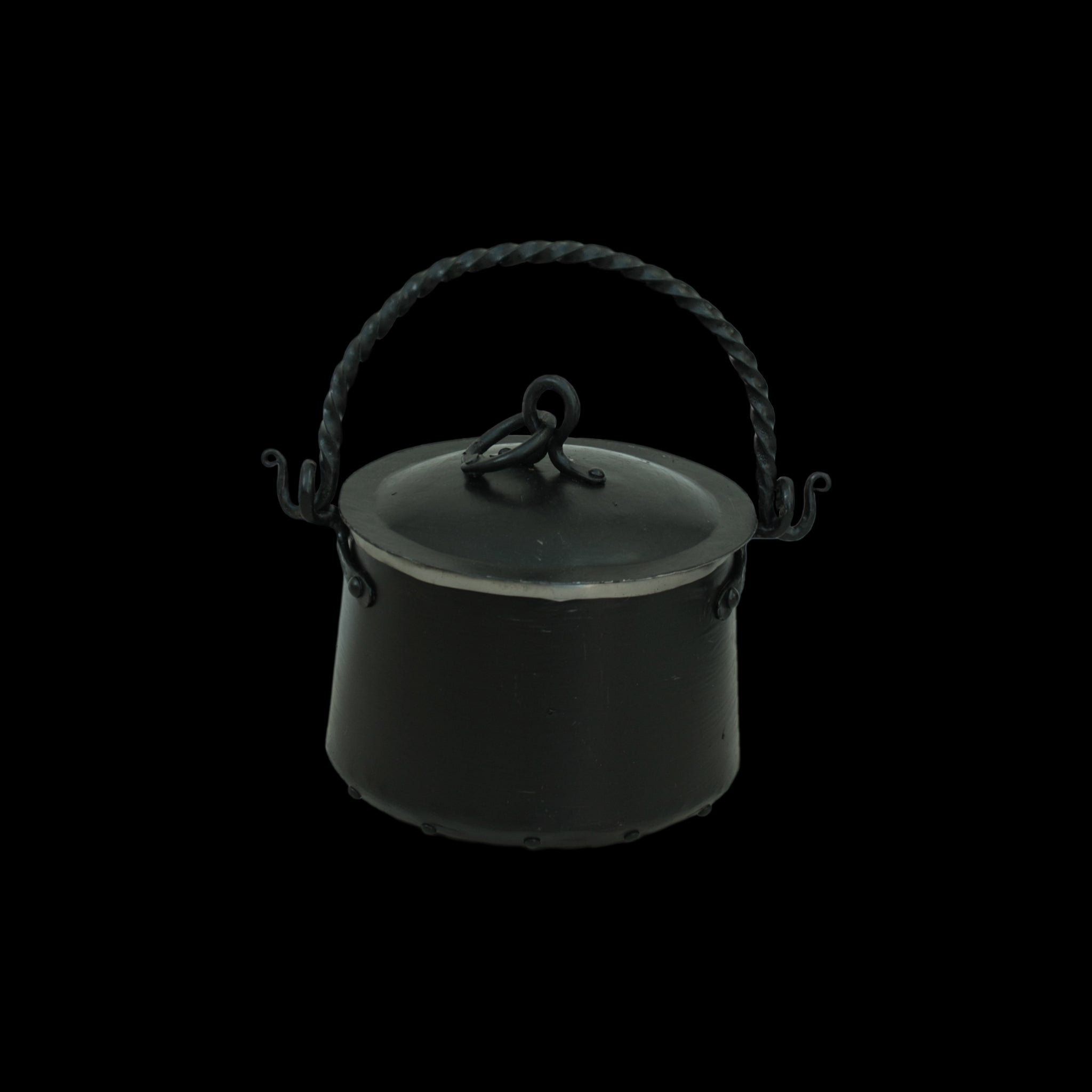 Hand-Forged Iron Cauldron