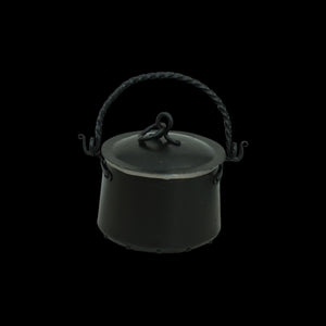 Hand-Forged Iron Cauldron - 1.3 Litre with Lid