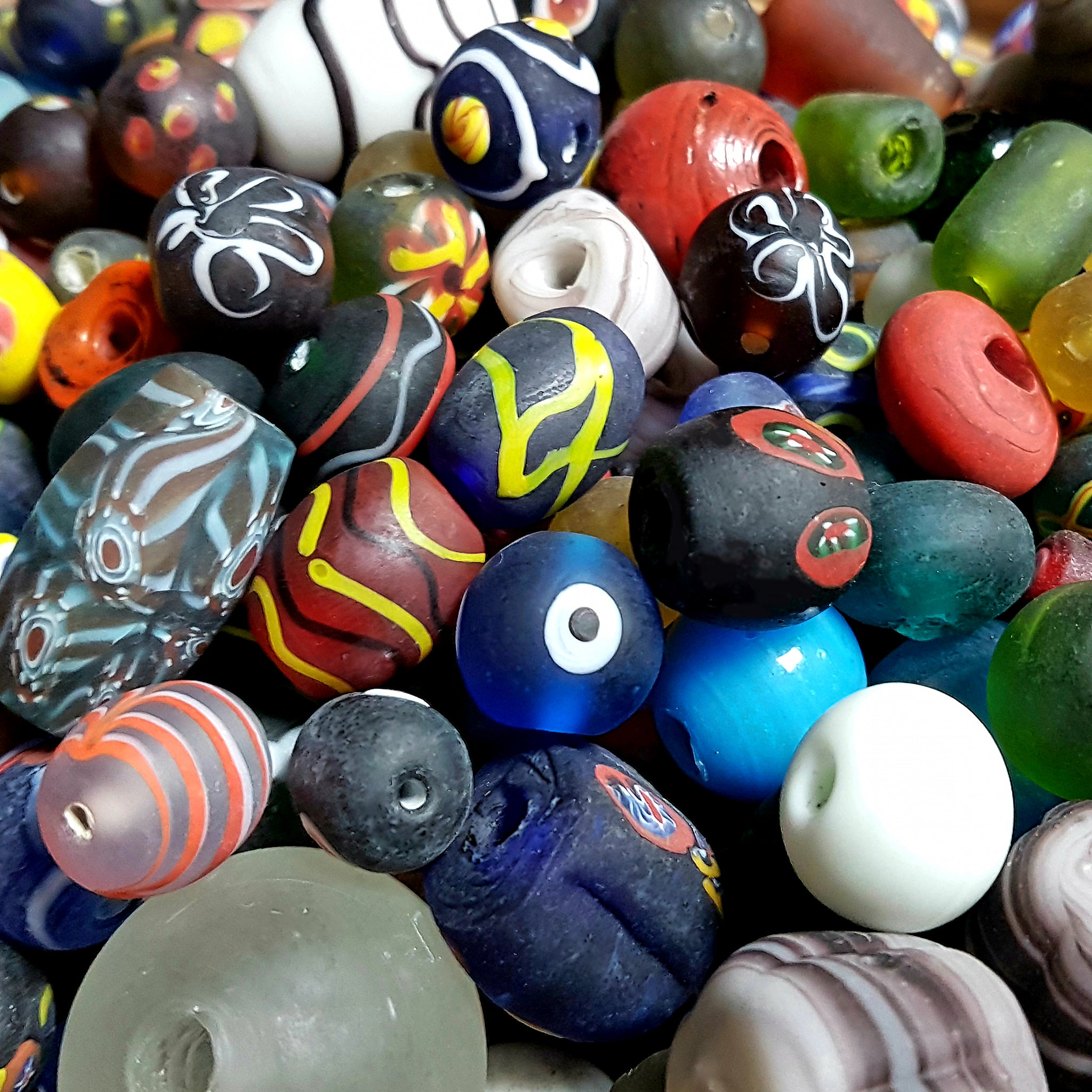 Assorted Glass Viking Beads From Birka