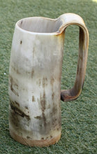 Load image into Gallery viewer, Large Rustic Game of Thrones Horn Beer Mug - Viking Feasting Supplies