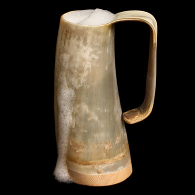 Game of Thrones Large Horn Beer Mug with Beer - Viking Feasting Supplies