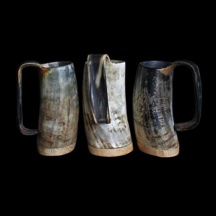 Medium Rustic Horn Beer Mug - Beer Mugs