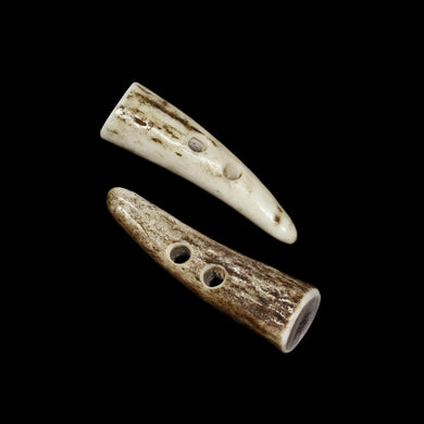 Antler Toggles x 2 - Antler Accessories - Viking Crafts