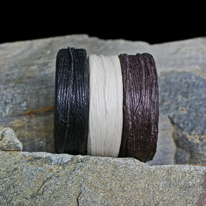 Waxed Linen Thread Reels Side View