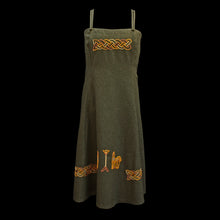 Load image into Gallery viewer, Women's Embroidered Wool Viking Hangerock / Overdress - Green