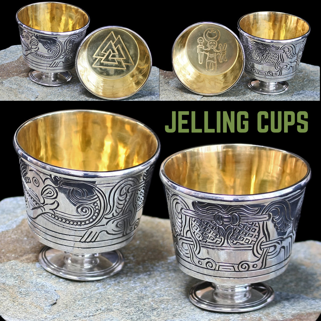 Solid Silver Handmade Jelling Cup Replica with Gold Plated Interior
