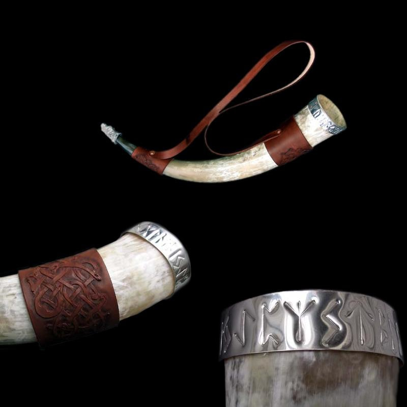 Large Custom Drinking Horn - Viking Drinking Horns