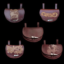 Load image into Gallery viewer, Custom Made Turned Leather Belt Pouch - Viking Pouches & Bags