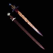 Load image into Gallery viewer, Made to Order Leather Sword Scabbard with a Choice of Designs & Colour - Viking Weapons Accessories