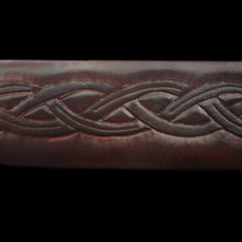 Load image into Gallery viewer, Custom Leather Sword Scabbard Detail - Viking Warrior Costume