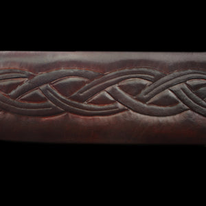 Custom Leather Sword Scabbard Detail - Viking Warrior Costume