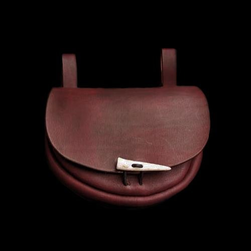 Custom made to order leather belt pouch.