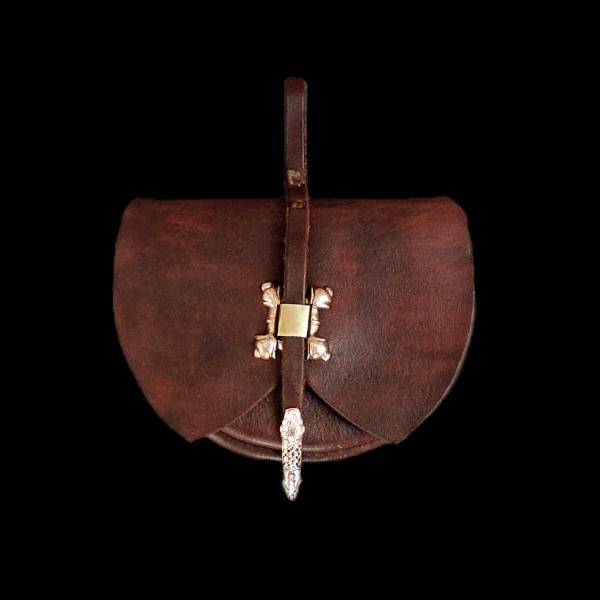 Custom Made Swedish Leather Belt Pouch - Viking Pouches & Bags