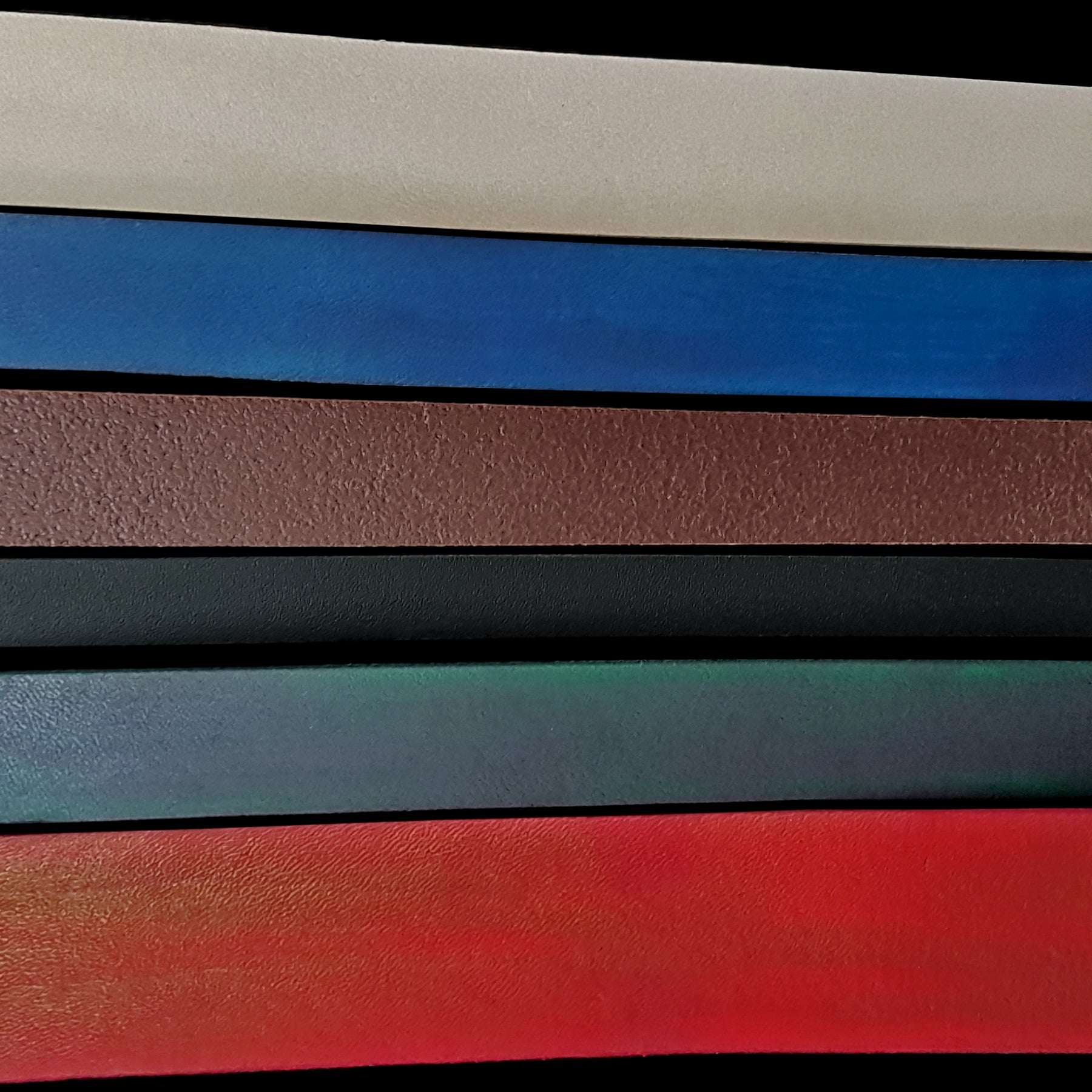 25mm (1 inch) Wide Leather Belt Strap