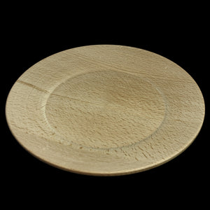 Large Hand-Turned Wooden Plate - Viking Feasting Supplies