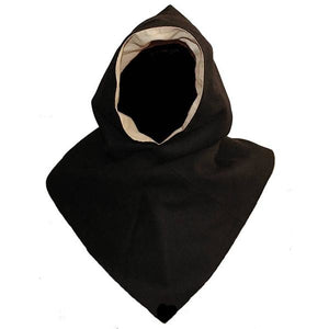 Wool Viking Hood From Hedeby - Black - Hats & Hoods
