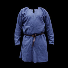 Load image into Gallery viewer, Blue Wool Viking Tunic - Viking Clothing / Costume