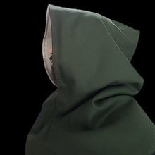 Load image into Gallery viewer, Green Wool Viking Hood From Skjoldehamn Side - Viking Hats & Hoods