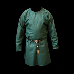 Wool Viking Tunic - S / Green - Viking Tunics