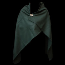 Load image into Gallery viewer, Handmade Green Wool Viking Cloak - Replica Viking Clothing