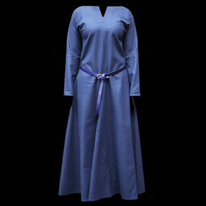 Womens Blue Wool Viking Dress - Womens Viking Clothing