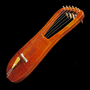 Handmade Dark Age Lyre Replica in Mahogany - Viking Instruments