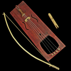 Handmade Viking Tagelharpa with Bow & Tuning Fork - Mahogany Brown
