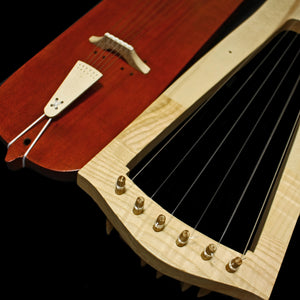 Handmade Trossingen Lyres in Natural & Mahogany Colour - Closer - Viking Instruments