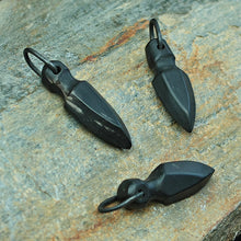 Load image into Gallery viewer, Black Horn Odin Spear Pendants - Viking Jewelry - Viking Pendants