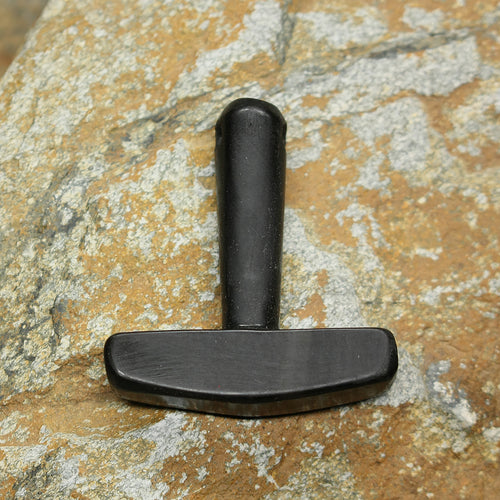 Large Black Horn Thors Hammer Pendant