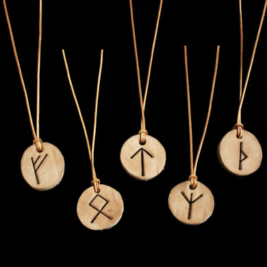 Leather Viking Rune Pendants - Asatru Supplies