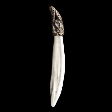 Boar Tusk Pendant Bronze Dragon Head Pendant