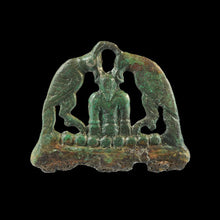 Load image into Gallery viewer, Bronze Odin & Ravens Fire Striker Original Viking / Saxon Finds