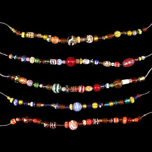 String Of Glass Viking Beads - Viking Beads