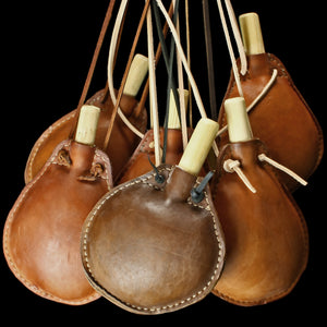 Large Leather Water Bottles / Kostrels - Viking Accessories