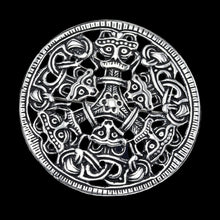 Load image into Gallery viewer, Large Round Silver Viking Brooch from Oppland, Norway - Viking Brooches