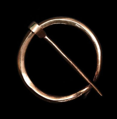 Plain Bronze Penannular Brooch - Cloak Pins