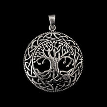 Load image into Gallery viewer, Yggdrasil Pendant - Silver - Viking Pendants