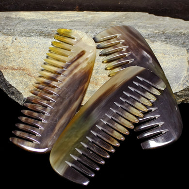 Chunky Horn Combs Made from Flattened Cow Horn - Viking Accessories