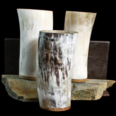 Large Ox Horn Beer Beakers - Viking Feasting Supplies