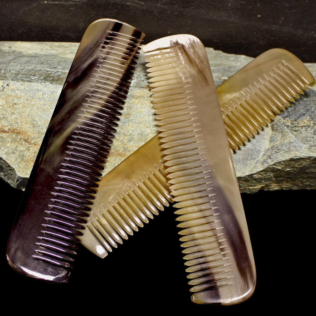 Long Flattened Horn Viking Combs - Viking Personal Accessories