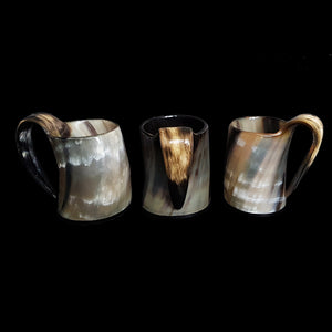 Small Polished Ox Horn Beer Mug - Viking Feasting Supplies