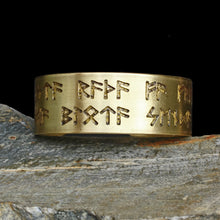 Load image into Gallery viewer, Runic Viking Havamal Bracelet in Brass - Viking Jewelry