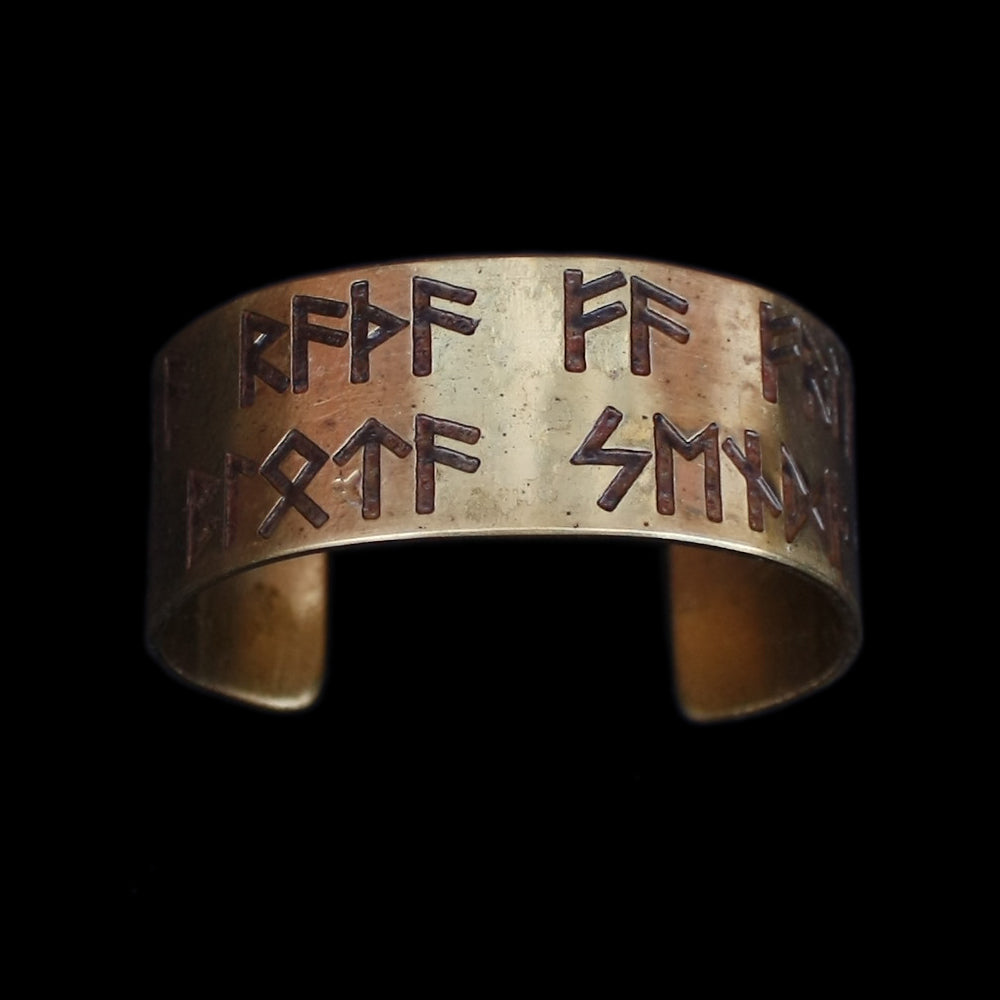 Brass Runic Viking Havamal Bracelet - Viking Jewelry