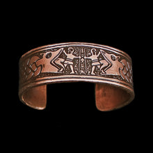 Load image into Gallery viewer, Fenrir Ragnarok Copper Viking Arm Ring - Viking Jewelry