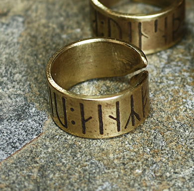Love Conquers All Viking Ring on Rock - Viking Jewelry