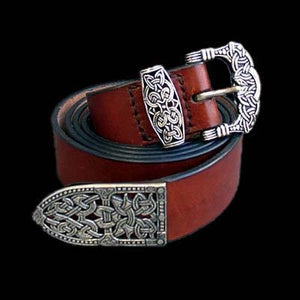 High Status Viking Belt With Silver Fittings - Belts & Fittings