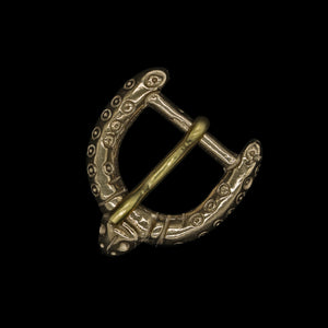 Bronze Viking Dot And Ring Buckle Replica